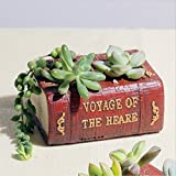 Messagee Artificial Succulent Plants Potted Book Shape Plants Pots Indoor Decorative Potted Small