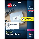 """Avery Glossy White Address Labels for Laser Printers, 2"""" x 4"""", 100 Labels, (6527)"""