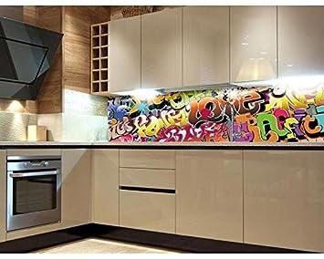 Kuchenruckwand Folie Selbstklebend Graffiti 180 X 60 Cm Klebefolie
