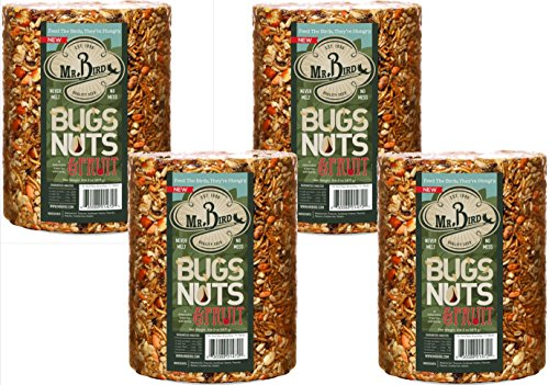 4-Pack of Mr. Bird Bugs, Nuts, Fruit Large Cylinder Bugs, Nuts & Fruit 4 lbs. 2 oz.