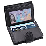 ARRIZO Multi Card Extra Capacity Travel Wallet Luxury Genuine Leather Trifold Wallet - Sleek And Stylish Gift For Men and Women (Black)