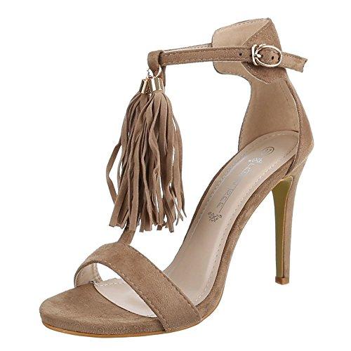 Ital-Design - sandalias mujer Marrón - Brown - Light brown