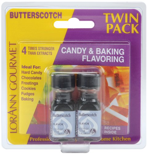 (Lorann Oils Candy and Baking Flavoring Bottle, Butterscotch, 0.125-Ounce, 2/Pack)