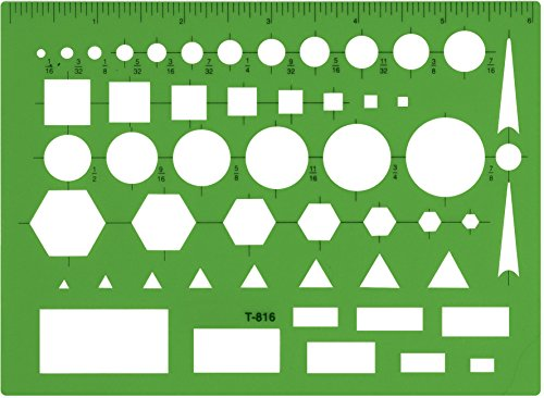 (Westcott Technical Drawing Template (T-816), Green)