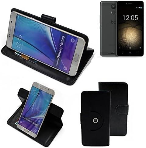 K-S-Trade 360° Funda Smartphone para BQ Aquaris U Plus, Negro ...