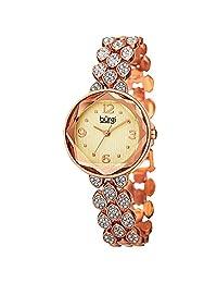 Burgi Women's BUR124RG Analog Display Japanese Quartz Rose Gold Watch