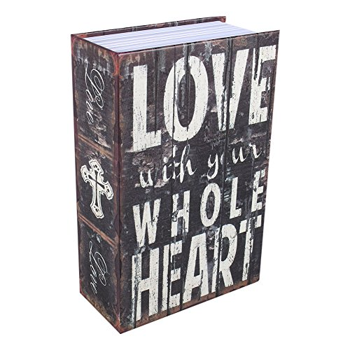 Security Box,Dictionary Book Hidden Diversion Book Safe with Combination (Love Type) ()