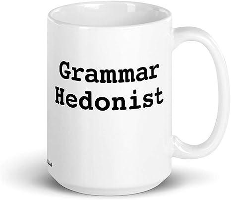 Amazon Com Grammar Table Grammar Hedonist Mug Punctuation Reading Writing Language Kitchen Dining