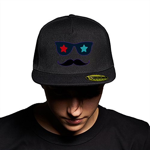 Fashion Glasses Black Black Cap Original Gorra Snapback Unisex, Ajustable, con Visera Plana y Logotipo Urbano Bordado.