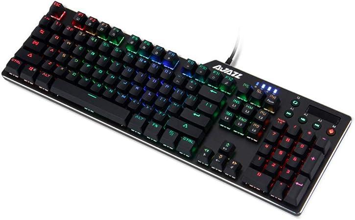 HLL Teclado RGB para Juegos mecánicos, LED, ergonómicos y ...
