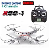 Cewaal Upgraded X5C-1 Drone with 1080P Camera Live Video,Headless Mode,One Key Return,Christmas Gifts for Kids Boys