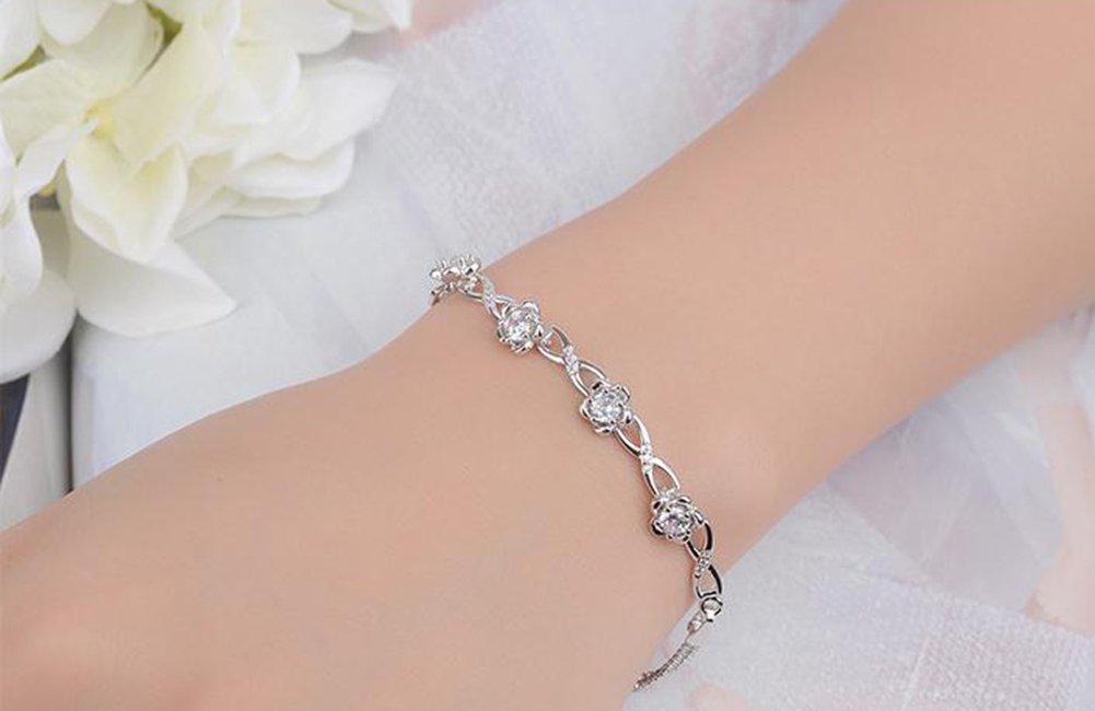 184deb8c5c8c Scrox Nueva moda elegante y salvaje Corea pulsera de cristal fresco de las  señ oras estudiante ...