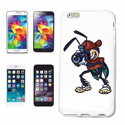 """cas de téléphone iPhone 6S """"FUNNY FLY AVEC CAMERAS EN PHOTOGRAPHIE PHOTOGRAPHE DIGITAL CAMERA SLR Camera Phone"""" Hard Case Cover Téléphone Covers Smart Cover pour Apple iPhone en blanc"""