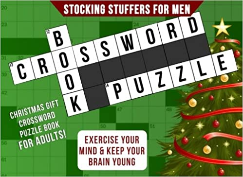 Stocking Stuffers for Men: Christmas Gift: Crossword Puzzle Books ...
