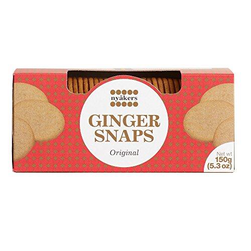 Nyakers Original Swedish Ginger Snaps 150 grams (Pack of 2)