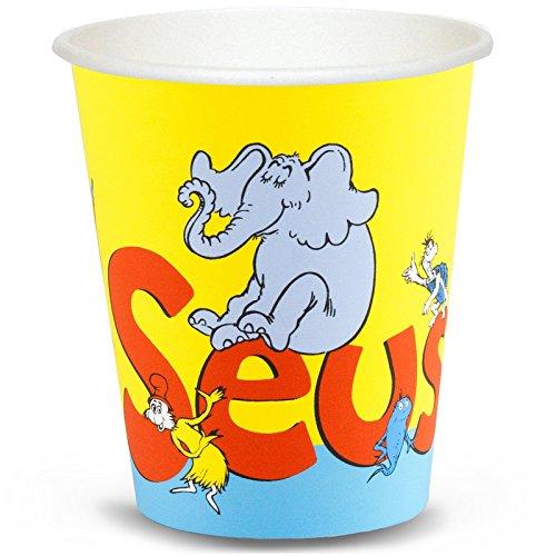 Dr Seuss Party Supplies - 9 oz. Paper Cups (8) (Seuss Invitations)