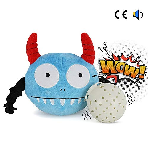Cobaka Pet Toys Automatic Electric Poppy Dog Squeak Toys Plush Jumping Monster Giggle Chew Ball Toy Bite Resistant Pet Supplies For Dog (Batteries not includ - 14cm)