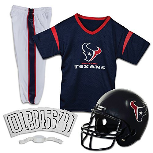 Franklin Sports NFL Houston Texans Deluxe Football Uniform Set- Small -