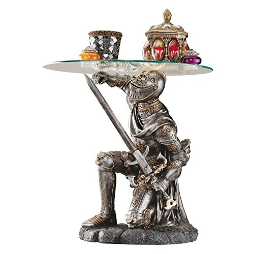 Design Toscano Battle-worthy Knight Sculptural Table by Design Toscano