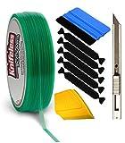 VViViD Knifeless Vinyl Wrap Cutting Tape Finishing Line 10M Plus 3M Toolkit (BluSqueegee,YlwSqueegee,5xBlckFlt&Knf)