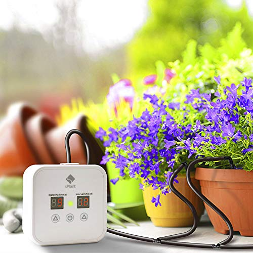 [Upgraded] Automatic Drip Irrigation Kit, Houseplants Self Watering System with 30-Day Digital Programmable Water Timer for 8 Pots Plants (House Plant Watering System)