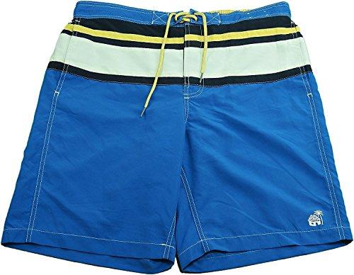 Caribbean Joe Men's Swimming Trunks, Blue (Large)