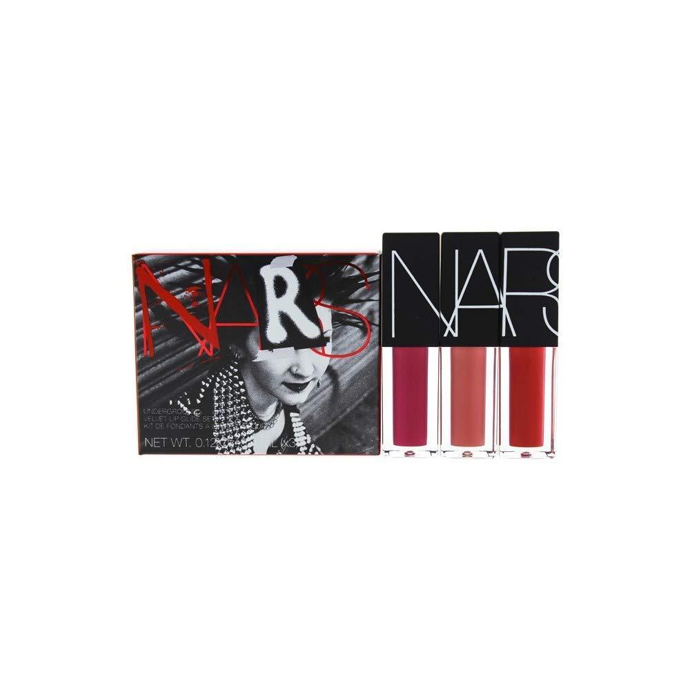 Nars Underground Velvet Lip Glide Set By Nars for Women - 3 X 0.12 Oz Lipstick Banshee, Vandal, Camden Girls, 3count [並行輸入品] B07TTPW546