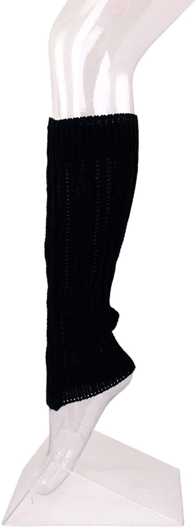Different Colors Available Fancy Slip Stitch Rib Knit Solid Color Leg Warmers
