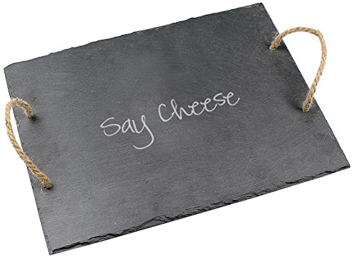 Grey Pie Server (Cathy's Concepts Say Cheese Slate Serving Board)