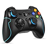 Wireless Controller, EasySMX 2.4 G PC PS3 Gamepads with Vibration Fire Button range up to 10m Support PC (Windows XP/7/8/8.1/10), PS3, Android, Vista, TV Box Portable Gaming Joystick Handle