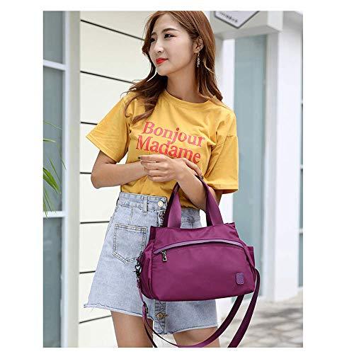 Purple De Épaule Style Sacoche Besace Oxford Casual Une En Bandoulière Femmes Voyage Fashion Nylon Sac XfZn6Sx5Z