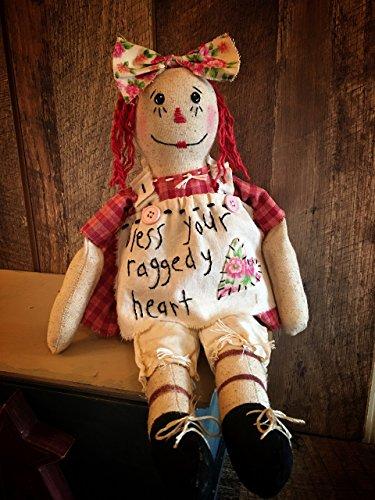 Primitive Raggedy Ann Doll (Primitive Folk Art Raggedy Ann Rag Doll)