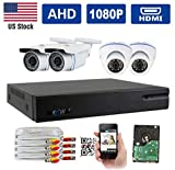 GW Security 8 Channel 1080P 5-in-1 DVR Video Surveillance Camera System 4 1080P 2.1MP Outdoor/Indoor Day/Night Waterproof Bullet Dome Security Camera Review