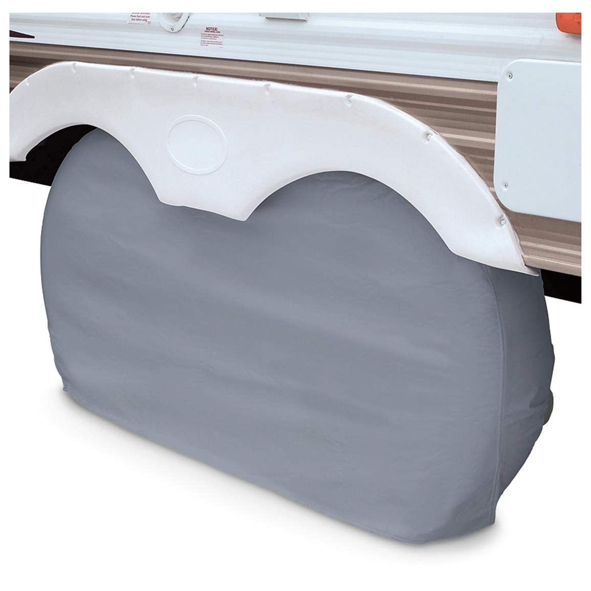 Grey Large Classic Accessories OverDrive RV Dual Axle Wheel Cover