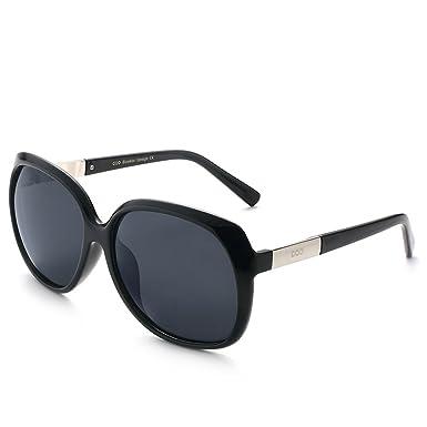 5e36e3e5e2a00 Round Vintage Designer Women Polarized Sunglasses Oversized Mirror by  BLUEKIKI YEUX (Black