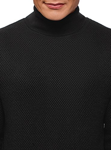 Pull Oodji Homme Texturé Ultra Noir Droite 2900n Coupe E4rqE5w