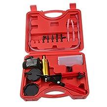 Generic 2 in 1 Auto Hand Held Brake Bleeder & Vacuum Pump Gauge Test Tester Tuner Tool Kit