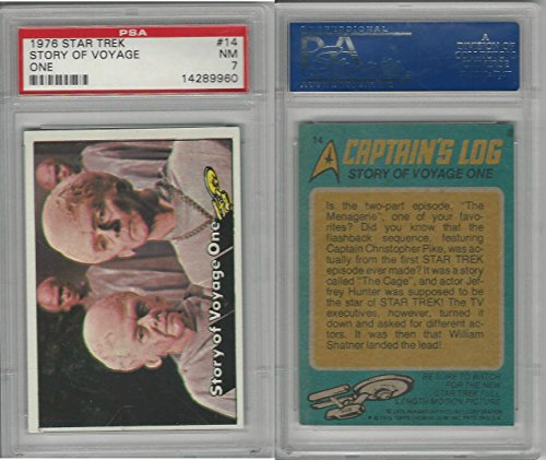 1976 Topps, Star Trek, #14 Story Of Voyage One, PSA 7 NM