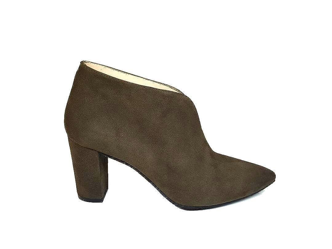 Gennia MEKASIN - Botines de Piel con Tacon Cubano 7 cm y Punta Fina para Mujer: Amazon.es: Zapatos y complementos