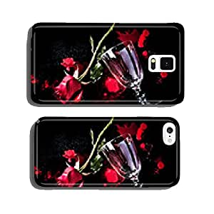 red rose on blood cell phone cover case Samsung S5