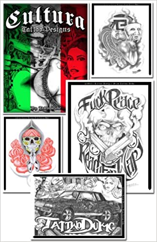 858baabe7 Mexican CULTURA Gangsta/Low Rider/Aztec/Prison 41 pages of designs: Artist  Tattoo Duke: Amazon.com: Books
