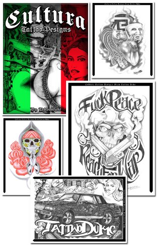 b2c23a0d04718 Mexican CULTURA Gangsta/Low Rider/Aztec/Prison 41 pages of designs  Spiral-bound – 2012. by Artist Tattoo ...