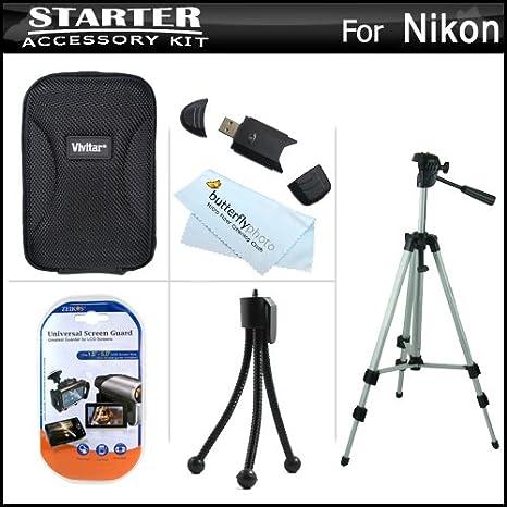 Starter Kit de accesorios para Nikon Coolpix S1200pj cámara ...
