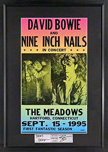David Bowie & Nine Inch Nails Concert Poster (SG Signature Engraved Plate Series Feat. Bowie & Reznor) - Series Bowie