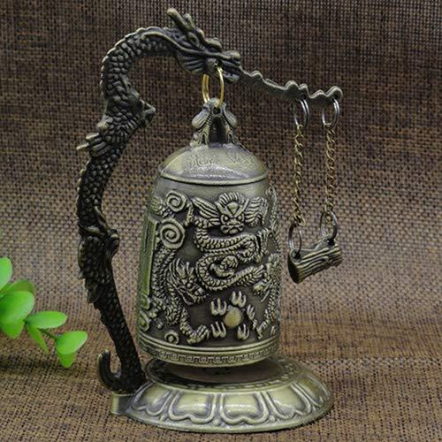 lightclub Lock Dragon Carved Buddhist Good Luck Bell Geomantic for Meditation Altar by lightclub (Image #1)