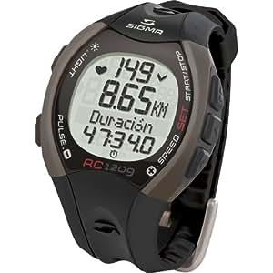 Sigma 25102 - Reloj pulsómetro, incluye banda torácica, señal codificada, color negro