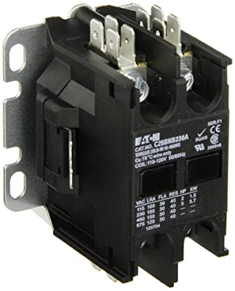 518YcT 5b1L._SX342_ eaton c25bnb230a compact definite purpose contactor, 30a inductive eaton definite purpose contactor wiring diagram at bayanpartner.co