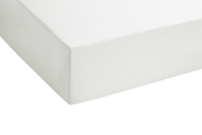 Biberna 77155//173//040 Drap Housse en Jersey Stretch pour un Lit Simple Rose 90 x 190 cm /à 100 x 200 cm