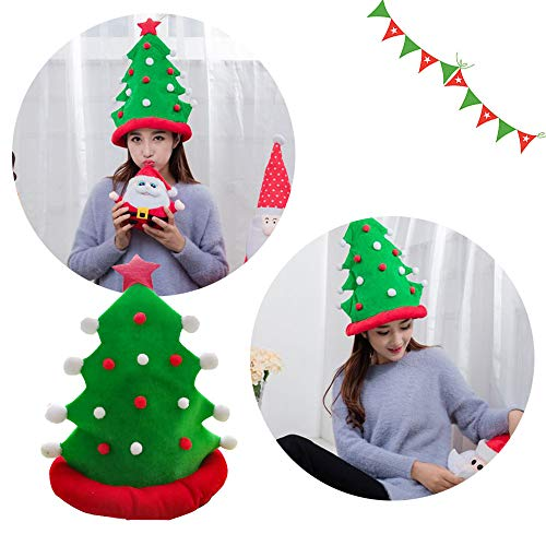 LtrottedJ Christmas Tree Funny Party Hats Christmas Hats Plush Costume, Outfit Novelty Toy