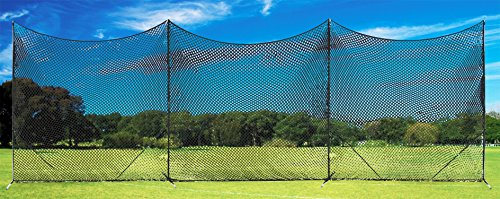 - Champion Sports Lacrosse Backstop Net: Ball Barrier for Professional, College and Grade School Training, Practice and Drills - Field Organizer for Stray Balls